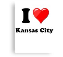 I Love Kansas City Canvas Print