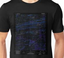 USGS TOPO Map Arkansas AR Hackett 258641 1987 24000 Inverted Unisex T-Shirt