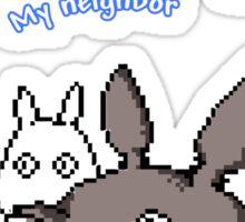 Totoro My Neighbor 8 bit Sticker