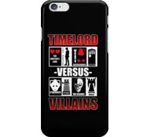 Time versus Villains iPhone Case/Skin