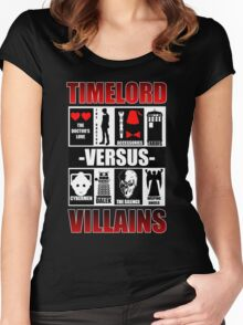 Time versus Villains Women's Fitted Scoop T-Shirt