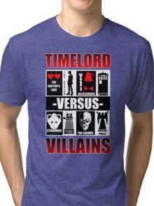 Time versus Villains Tri-blend T-Shirt