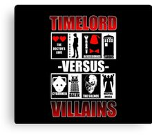 Time versus Villains Canvas Print