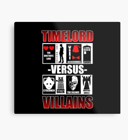 Time versus Villains Metal Print