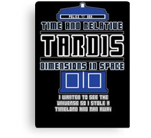 """The Tardis who stole a Timelord"" Canvas Print"