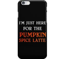 PUMPKIN SPICE LATTE iPhone Case/Skin