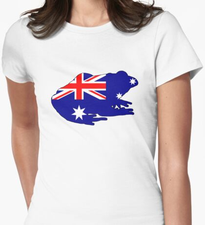 Australian Flag - Frog Womens Fitted T-Shirt