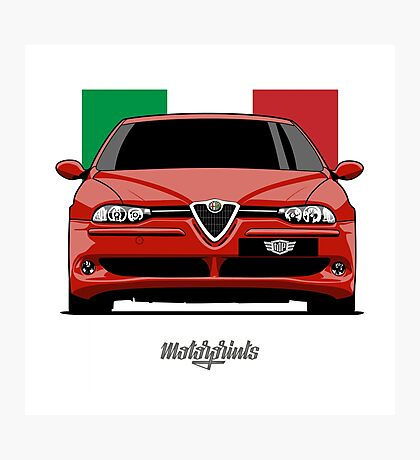 Alfa Romeo 156 GTA (red) Photographic Print