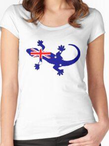 Australian Flag - Gecko Women's Fitted Scoop T-Shirt