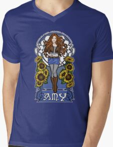 The Girl Who Waited (Amy in sunflowers) Mens V-Neck T-Shirt