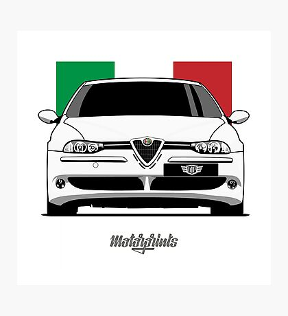 Alfa Romeo 156 GTA (white) Photographic Print