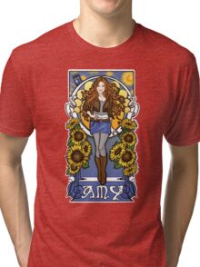 The Girl Who Waited (Amy under a Van Gogh sky) Tri-blend T-Shirt