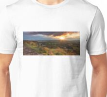 Sunset over Norland moor, Halifax , West Yorkshire Unisex T-Shirt