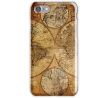 Old vintage world's map iPhone Case/Skin