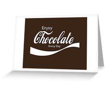 Enjoy Chocolate Greeting Card