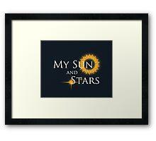 My Sun and Stars Framed Print