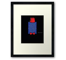 """To Quote The Doctor"" Framed Print"