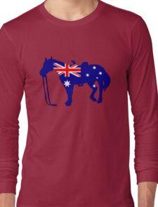 Australian Flag - Horse Long Sleeve T-Shirt