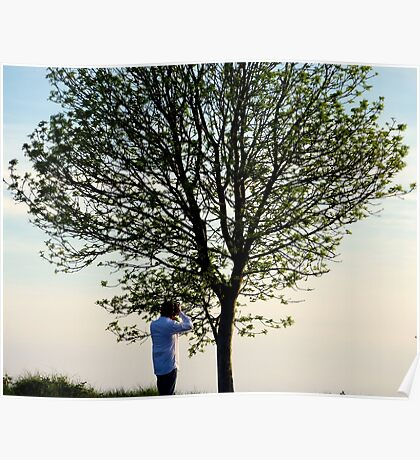 Lone Tree Plus Photographer Poster