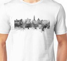 Lille skyline in black watercolor Unisex T-Shirt