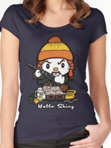 Hi Shiny Women's Fitted Scoop T-Shirt