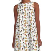 Food Food Food Yummy Food - Japanese food collection A-Line Dress