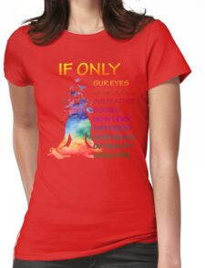 Yoga watercolor zen quote Womens Fitted T-Shirt