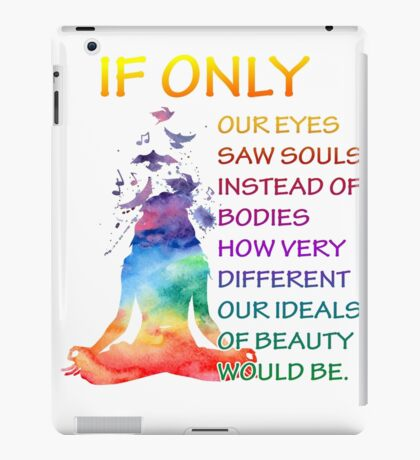 Yoga watercolor zen quote iPad Case/Skin