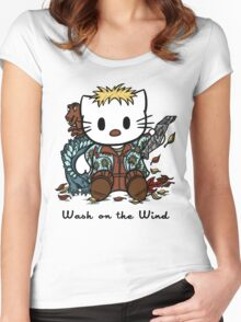 Wash on the Wind Women's Fitted Scoop T-Shirt