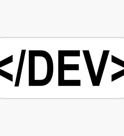 Developer Tag - Sticker Sticker