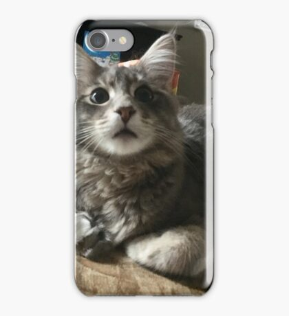 Surprised kitty iPhone Case/Skin