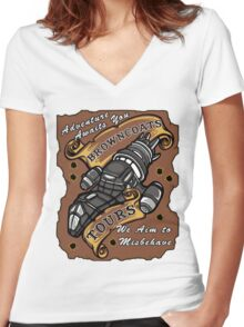 Browncoat Tours  Women's Fitted V-Neck T-Shirt