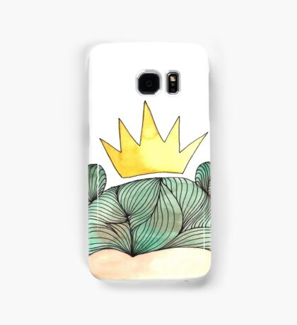 Forest Girl Queen in green hair watercolour Samsung Galaxy Case/Skin