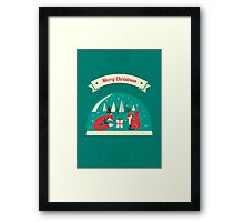 Christmas Foxes have gift for you! Framed Print