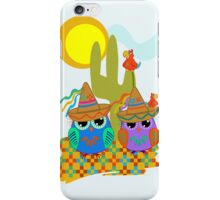 Cute Sombrero Owls, patterns and  Parrots iPhone Case/Skin