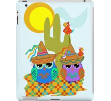 Cute Sombrero Owls, patterns and  Parrots iPad Case/Skin