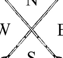 Compass Crossed Arrows Sticker
