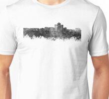 Tucson skyline in black watercolor Unisex T-Shirt