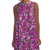 Pink Chips - Abstract Pattern A-Line Dress