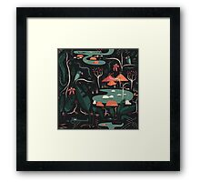 The Water Hole Framed Print