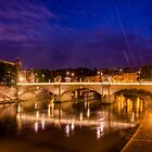 Ponte Vittorio Emanuele II, Rome by Erik Schlogl