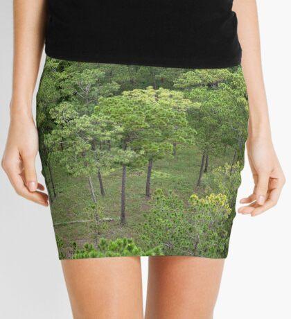 Pine forest aerial Mini Skirt