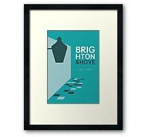 Brighton England - The Lanes Framed Print