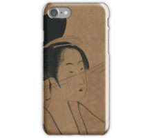 Sheer cloth - Utamaro Kitagawa - 1795 iPhone Case/Skin