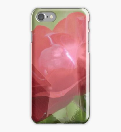 Layered Rose And Building iPhone Case/Skin