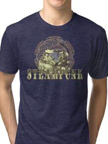 Grunge Steampunk Vintage Robot  Tri-blend T-Shirt