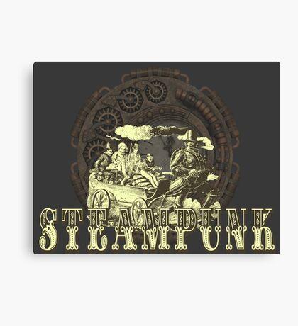 Grunge Steampunk Vintage Robot  Canvas Print