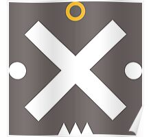Angry Cool Face with Simple Basic Shapes Poster