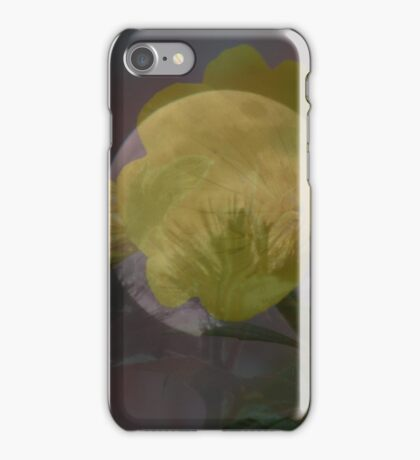 Layered Moon And Flower iPhone Case/Skin