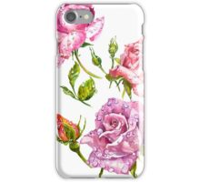 Watercolor bouquet of flowers roses iPhone Case/Skin